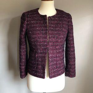 J Crew cropped tweed blazer, size 2